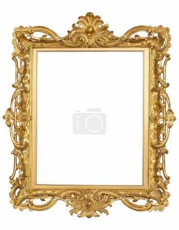 Antique gold Frame isolated