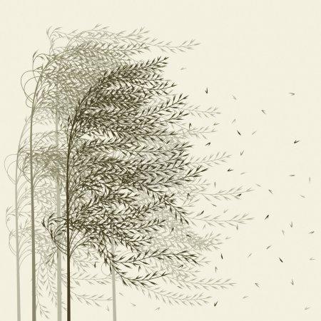 Illustration pour Fond de roseau de vecteur pour les cartes et les salutations. - image libre de droit