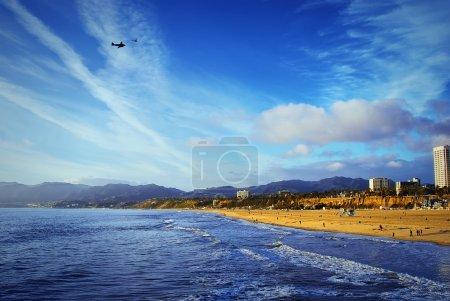 The Pacific Ocean. Santa Monica Beach.