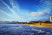 The Pacific Ocean. Santa Monica Beach.
