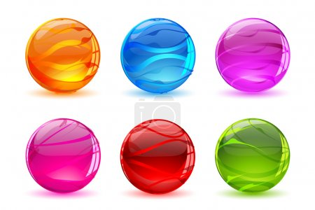 Illustration for Illustration of abstract colorful balls on white background - Royalty Free Image