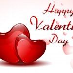 Illustration of valentine card on hearty backgroun...