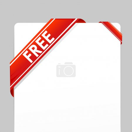 Illustration for Illustration of card wrapped with free tag ribbon on isolated background - Royalty Free Image
