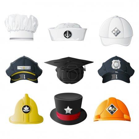 Different Profession Hats