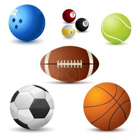 Set of Sports Ball