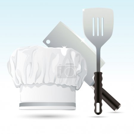 Chef Hat with Cooking Tools