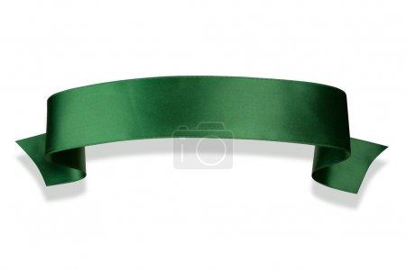 Photo pour Élégance bannière ruban vert avec ombre - image libre de droit
