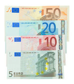 Euro banknotes isolated
