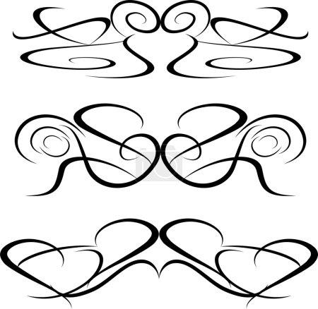 Tattoo Tribal art design elements artworks floral