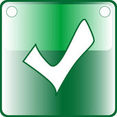 TICK green Button Web icon - accept submit agree vote