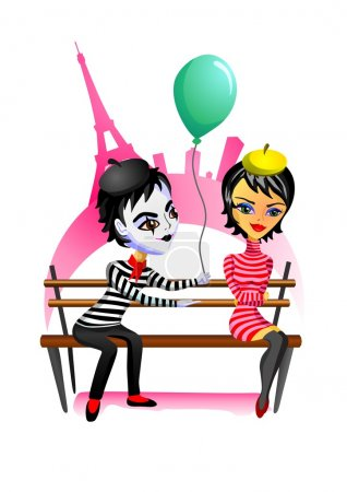 Mime and girl