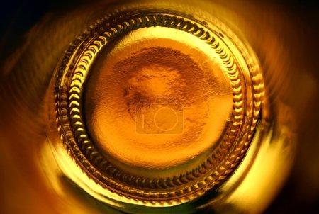 Abstract beer bottle bottom
