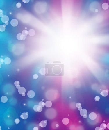 Foto de Fondo abstracto azul púrpura fresco con efecto bokeh - Imagen libre de derechos
