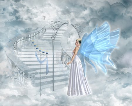 An angel shows the way to heaven...
