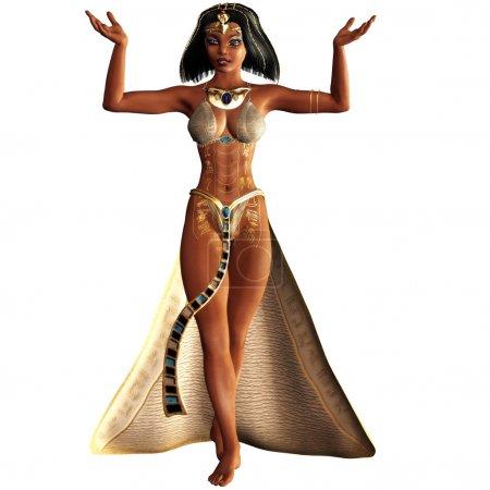Cleopatra, the last female pharaoh isolated on whi...