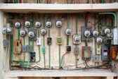 Electric meter messy electrical wiring installation