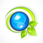 Abstract sphere with leaves Business logo