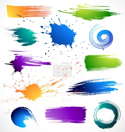 Illustration for Vector illustration paint splashes - Royalty Free Image