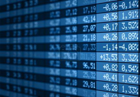 Stock market electronic board