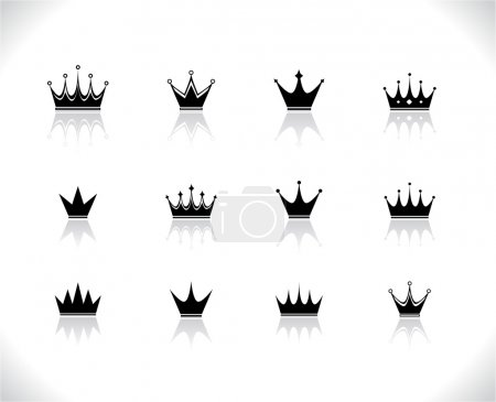 Set of black crowns.