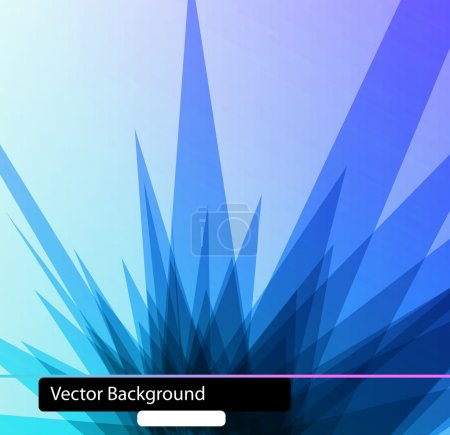 Illustration for 3D Polygonal techno background - Royalty Free Image