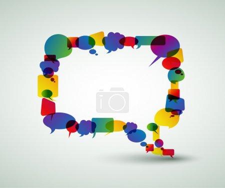 Illustration pour Grosse bulle de micro-bulles colorés - image libre de droit