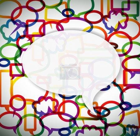 Illustration pour Fond coloré fait de bulles avec la place pour votre texte - image libre de droit