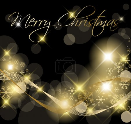 Black and Golden Christmas background
