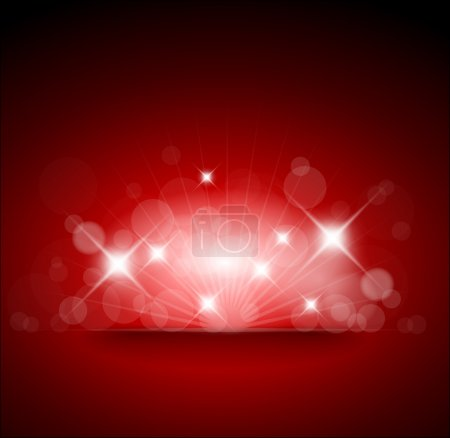 Red background with white lights