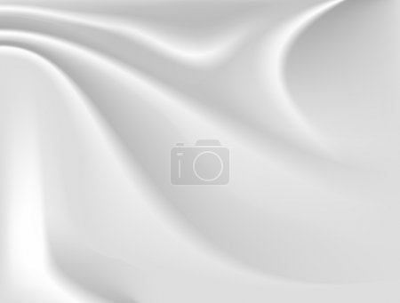 Illustration for Simple abstract white silk background - Royalty Free Image