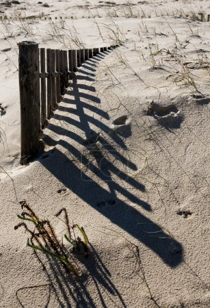 Fence on the sand