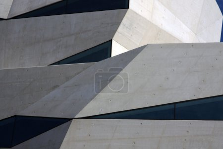 Photo for Partial detail view of an abstract and modern building. - Royalty Free Image