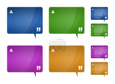 Testimonials blocks for web template design