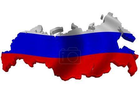 Drapeau et carte de Russie