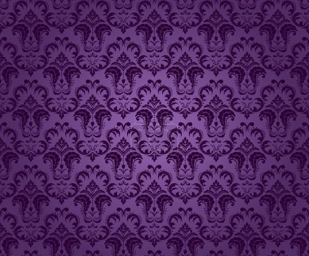 Illustration for Purple seamless ornament, bright colors - Royalty Free Image