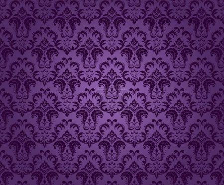 Purple seamless ornament