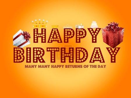 Photo pour Carte de voeux de joyeux anniversaire - image libre de droit