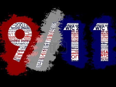 September 11, Typographic Illustration