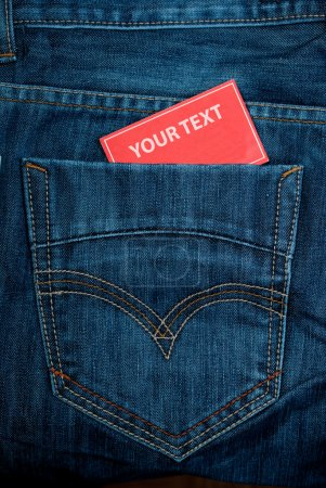 Jeans pocket and paper